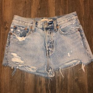 Levi's Vintage Wedgie Cutoff Jean Shorts Size 25